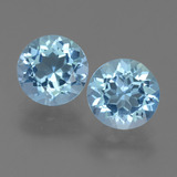 thumb image of 2.5ct Round Facet Maya Blue Topaz (ID: 454996)