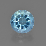 thumb image of 2.4ct Round Facet Sky Blue Topaz (ID: 455123)