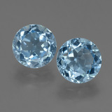 thumb image of 2.3ct Round Facet Sky Blue Topaz (ID: 455405)