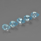 thumb image of 2.5ct Poire facette Bleu ciel Topaze (ID: 455436)