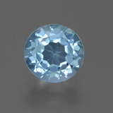 thumb image of 2.5ct Round Facet Sky Blue Topaz (ID: 455440)