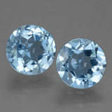 thumb image of 4.1ct Round Facet Sky Blue Topaz (ID: 455502)