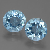 thumb image of 4.5ct Round Facet Sky Blue Topaz (ID: 455507)