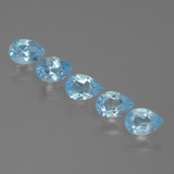 thumb image of 2.5ct Pear Facet Sky Blue Topaz (ID: 455529)