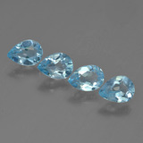 thumb image of 3ct Pear Facet Sky Blue Topaz (ID: 455615)