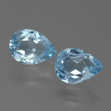 thumb image of 0.7ct Pear Facet Sky Blue Topaz (ID: 455619)