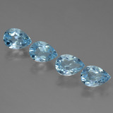 thumb image of 3.3ct Pear Facet Sky Blue Topaz (ID: 455717)