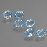 thumb image of 3.3ct Pear Facet Sky Blue Topaz (ID: 455792)