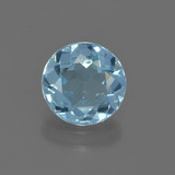 thumb image of 2ct Round Facet Sky Blue Topaz (ID: 455800)