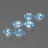 thumb image of 3.2ct Pear Facet Sky Blue Topaz (ID: 455813)