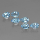 thumb image of 3.1ct Pear Facet Sky Blue Topaz (ID: 455860)