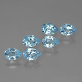 thumb image of 0.5ct Pear Facet Sky Blue Topaz (ID: 455861)