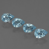 thumb image of 0.6ct Pear Facet Sky Blue Topaz (ID: 455979)