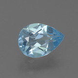 thumb image of 0.8ct Pear Facet Sky Blue Topaz (ID: 456197)