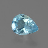 thumb image of 0.7ct Pear Facet Sky Blue Topaz (ID: 456205)