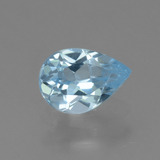 thumb image of 0.7ct Pear Facet Sky Blue Topaz (ID: 456590)