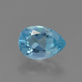 thumb image of 0.7ct Pear Facet Sky Blue Topaz (ID: 456747)