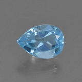thumb image of 0.8ct Pear Facet Sky Blue Topaz (ID: 456750)