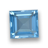 thumb image of 2.1ct Square Step-Cut Sky Blue Topaz (ID: 461500)