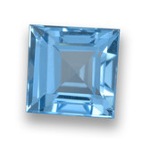 thumb image of 2.2ct Square Step-Cut Sky Blue Topaz (ID: 461504)