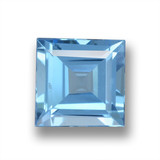 thumb image of 1.9ct Square Step-Cut Sky Blue Topaz (ID: 461544)