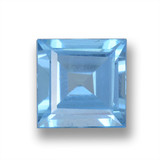 thumb image of 1.9ct Square Step-Cut Sky Blue Topaz (ID: 461549)