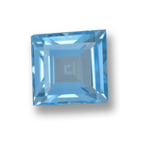 thumb image of 2ct Square Step-Cut Sky Blue Topaz (ID: 461571)