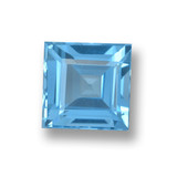 thumb image of 1.9ct Square Step-Cut Sky Blue Topaz (ID: 461574)