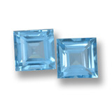 thumb image of 4.4ct Square Step-Cut Sky Blue Topaz (ID: 461654)