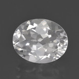thumb image of 3.2ct Oval Facet White Topaz (ID: 462257)