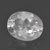 thumb image of 3.3ct Oval Facet White Topaz (ID: 462258)
