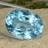 thumb image of 21.8ct Oval Facet Deep Maya Blue Topaz (ID: 477016)