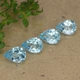 thumb image of 2.9ct Pear Facet Sky Blue Topaz (ID: 477869)