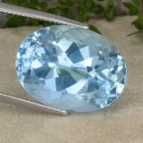 thumb image of 25.1ct Oval Facet Swiss Blue Topaz (ID: 480205)