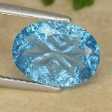 thumb image of 4.4ct Oval Fantasy Concave Cut Swiss Blue Topaz (ID: 485770)