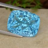 thumb image of 6.9ct Cushion Concave Fantasy Cut Deep Azure Blue Топаз (ID: 486067)