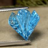thumb image of 5.4ct Carved Flower Swiss Blue Topaz (ID: 486136)