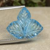 thumb image of 7.1ct Fantasy Carved Leaf Swiss Blue Topaz (ID: 486267)