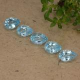 thumb image of 0.5ct Pear Facet Sky Blue Topaz (ID: 487611)