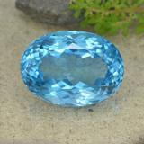 thumb image of 61.1ct Oval Facet Swiss Blue Topaz (ID: 499066)