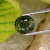 thumb image of 1.5ct Oval Facet Deep Green Tourmaline (ID: 253145)