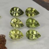 thumb image of 4.8ct Pear Facet Golden Green Tourmaline (ID: 265214)