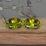 thumb image of 0.9ct Oval Facet Yellowish Green Tourmaline (ID: 378431)