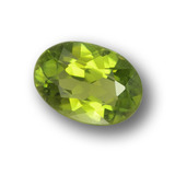 thumb image of 0.7ct Oval Facet Yellowish Green Tourmaline (ID: 378879)