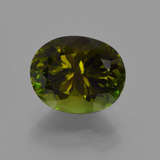 thumb image of 2ct Oval Facet Yellowish Green Tourmaline (ID: 381688)