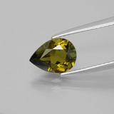 thumb image of 1.2ct Pear Facet Greenish Brown Tourmaline (ID: 388840)