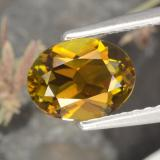 thumb image of 1ct Oval Facet Greenish Golden Tourmaline (ID: 394188)