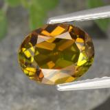 thumb image of 1.1ct Oval Facet Greenish Golden Tourmaline (ID: 394193)