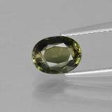 thumb image of 1.2ct Oval Facet Yellowish Green Tourmaline (ID: 400985)