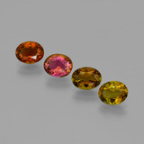 thumb image of 3.8ct Oval Facet Multicolor Tourmaline (ID: 401881)